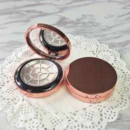 Wholesale powdered aluminium - Plastic Powder Blush Jar With Mirror + Aluminium Tray Empty Portable Cosmetic Box + Flip Lid Packaging Containers F20172915