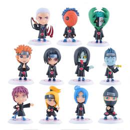 Wholesale action figure itachi - Naruto Action Figures Toys 11 pieces lot 8cm PVC Naruto Akatsuki Member Uchiha Itachi Orochimaru Action Figures Kids Toys Gifts LA684-2