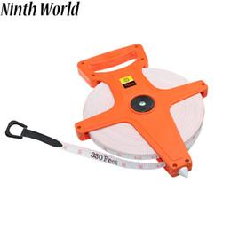Medidor de regla online-Noveno Mundo 1PC 30M / 100Ft 50M / 165Ft 100M / 330Ft Medidor de Fibra de Vidrio Abierto Cinta Métrica Medida Pulgada Regla Métrica ABS Medir herramientas