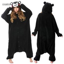 Wholesale Bear Adult Costume - New Unisex Adult Black Kumamoto Bear Kumamon Onesie Party Pajamas Costume Cosplay