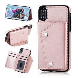 samsung pocket nouveau Promotion Nouveau style de mode PU portefeuille en cuir téléphone cas pour iPhone X 8 7 6 plus Samsung note8 S8 avec des fentes de cartes côté poche