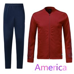 Wholesale american jackets - 1819 Landon Donovan football jacket 2019 American Michael Bradley men's red football long-sleeve training kit