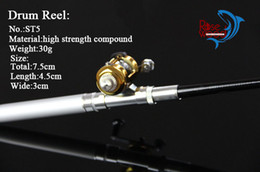 Wholesale Infrared Carbon - infrared cheap beach mini pen fishing rods and casting reel combos kit carretilha pesca 1m telescopic pole pen fishing rod with