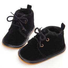 ganchos de encaje de arranque Rebajas Delebao Brand Unique Winter Warm Baby Boots antideslizante con cordones Pure Cotton Hook Loop Sole Baby Shoes