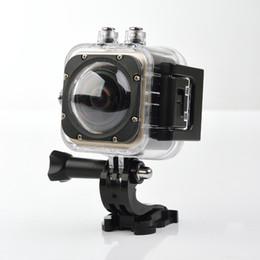 Mini transmisor de cámara online-transmisor SOOCOO C-UBE360S WiFi 1.5 pulgadas 30 M Impermeable Mini Sports Action 360 Cámaras de gran angular Gran angular 360 * 180 HD Cámara de video
