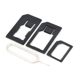 separador de tela para celular Desconto 3 em 1 nano micro adaptador adaptador de cartão padrão sim ferramentas para iphone 4 4s 5 preto xda1174