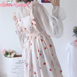 76f528d68c omen s Clothing Dresses Japanese Mori Girl Sweet Pink Cartoon Print High  Waist Ball Gown Sleeveless Dress 2018 Summer Women Cute Princess.