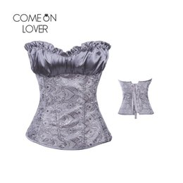 Wholesale Plus Size Gothic Clothing - AI2931 Comeonlover Cupless Underbust Plus Size Corset Women Steampunk Clothing Gothic Waist Shaper Corset Hot Sale Womens