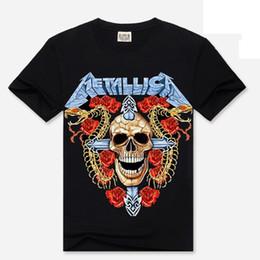Wholesale casual goth - 2018 women Gothic t shirt Summer rose skull punk Harajuku tee shirt femme casual top Rock Hip hop 3XL Goth plus size t-shirts