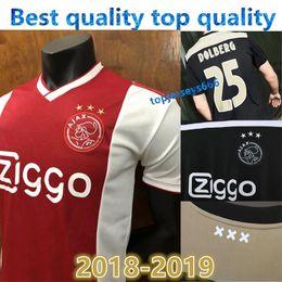 148e6c8e8 Nuevo Ajax Soccer Jersey de visitante 18 19 Ajax away balck Soccer Shirt  2019 Personalizado n.º 14 CRUIJFF KLAASSEN DOLBERG NOURI Football uniforme
