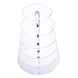 Wholesale cupcake cake plate - 6 Tiers Cake Stand Fondant Cake Rack Crystal Cupcake Plate Christmas Baking Tool For Wedding Party confeitaria US free shipping