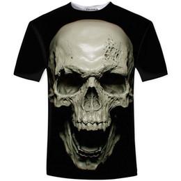 Venta al por mayor-Nueva camiseta caliente del verano 3D de los hombres, modelos de la moda de la calle del amor del cráneo del alma del carro de la manera Ropa de los hombres de la roca desde fabricantes