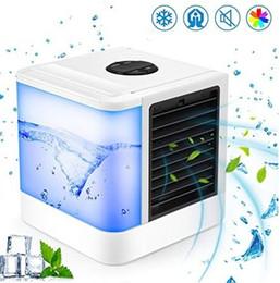 USB Portable Cooler Petits Appareils De Climatisation Mini Ventilateurs De Refroidissement Ventilateur De Refroidissement D'air Été Portable Vent Fort ? partir de fabricateur