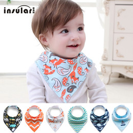 Free Shipping Baby Saliva Towel Bib Kerchief Cartoon Cotton Triangular Scarf Cute Printing Soft Infant Newborn Burp Cloths Deals