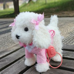 Wholesale Plush Camera - Walking Musical Robot Dog Interactive Electric Pets Plush Toys Outdoor Fun Doll Baby toy Gifts for kids 4 colors