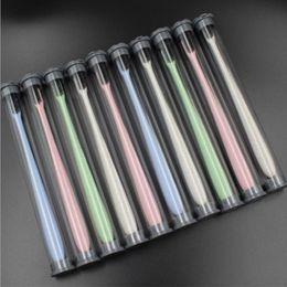 Cepillo de dientes de nano carbón online-Portátil de Viaje de Bambú Cepillo de Dientes de Carbón Suave Trigo Mango de Trigo Cepillo de Dientes Oral Cuidado Nano-antibacteriano Mini Cabezas 20 unids / lote
