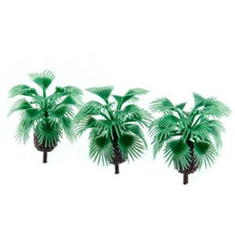 Argentina Nueva llegada 2018 10pcs 2.2 pulgadas Modelo Bottlepalm Trees Layout Train Scale 1/200 cheap scale model trains Suministro