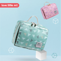 Wholesale little baby love - Love Little Me Portable Baby Diaper Bag Maternity Bag Waterproof Wet Cloth Diaper Reusable Cover Baby Care For Mom