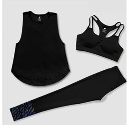 Wholesale Workout Shirts For Women - Women Quick Dry Yoga Sets for Gym Running Yoga T-Shirt Tops & Sports Bra Vest & Fitness Pants Workout Sports Suit Set