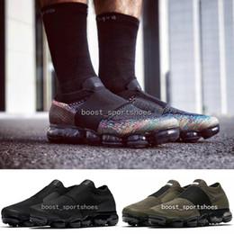 Wholesale Khaki Cargos - New Vapormax Laceless Moc Multicolor Triple Black Cargo Khaki Cool Grey men women vapormaxs slip-on sneakers sports Running shoes size36-45