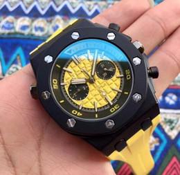 Relojes deportivos amarillos online-Caja negra amarilla hombre hombre Bone reloj de pulsera orologio deporte Moda de lujo de alta calidad hombres reloj nuevo acero inoxidable para hombre relojes