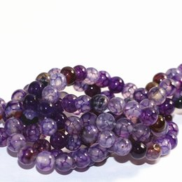 Wholesale vein agate beads - DIY semi-finished products Popular purple dragon vein agat natural stone carnelian onyx 6mm 8mm 10mm 12mm round loose beads 15 inches