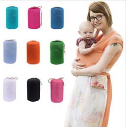 portabebé elástico Rebajas Multifuncional Baby Sling Recién nacido Wrap Carrier Soft Baby Wrap Sling Carrier fant Lactancia materna cubierta del bebé Niños Wrap KKA4217