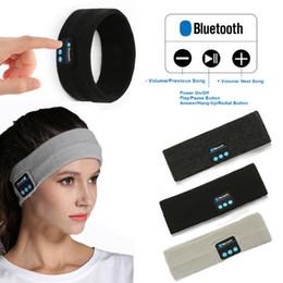 Cuffie auricolari online-3 stili Bluetooth Knitting Music Band Cuffie senza fili Bluetooth auricolare hairband Cuffie in esecuzione Yoga Gym musica Sport Auricolare FFA1009