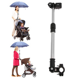 Wholesale Umbrellas Strollers - Adjustable Umbrella Holder Plastic Baby Stroller Cart Chair Pram Umbrella Stretch Mount Stand Holder Baby Strollers Accessories