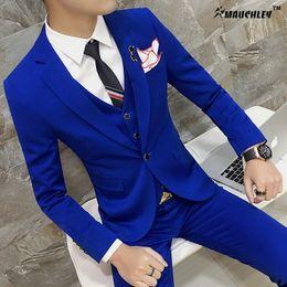 Wholesale Slim Dresses Korea - 2017 Unique Mens Blazers Designs Korea Candy Solid Color Jacket Blazer Masculino Slim Fit Prom Dress Boys S-4XL Plus Size Blaser