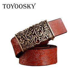 Wholesale Hand Woven Belts - 2018 New Fashion Belts Hand Leather Woven Strap Needle Buckle Belts Casual Style Luxury Female Casual Women