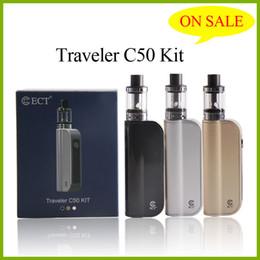 Wholesale bateria cigarro eletrônico autêntico ECT C50 e cigarro Box Mod Starter Kit mAh atacado ohm vaporizador fábrica