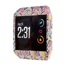 fitbit cobre Desconto Capa de Silicone Macio à Prova de Choque à Prova de Choque e Estilhaçante para Fitbit Ionic, Impresso na Moda e Acessórios de Reposição DIY à Moda