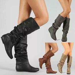 2019 mulheres botas baixas venda 2018 New Hot Sale Mulheres Botas de Neve Primavera Outono Botas Casuais Quentes Mulher Plataforma Meia Calma Cunha Plana Meia Botas de Cano desconto mulheres botas baixas venda