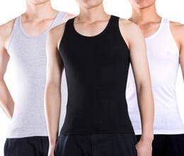 homens do exército Desconto Frete grátis mais novo estilo verão puro algodão colete tops dos homens sem mangas T-shirt moda esportiva coletes Tamanho: XL-XXXL liqinghui2011