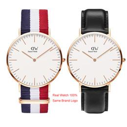 los mejores relojes de diseño para hombre Rebajas Daniel Watch Top Luxury Mens Relojes Mujer Famoso Diseñador Oro 40mm 36mm Señoras Pareja Unisex Relojes de pulsera Montre de luxe