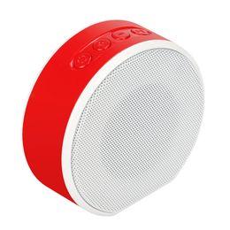 Mini haut-parleur bluetooth rose en Ligne-Mini haut-parleur Bluetooth sans fil Support portable Carte TF Haut-parleurs AUX Radio FM or rose calll mains libres Haut-parleur portable avec micro Voice