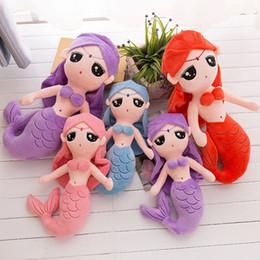 2019 подушка куклы подруги Плюшевая игрушка Mermaid doll 3 мягкой подушки Mermaid размера размера подходящей в качестве подарка для подружки детей A-0501 дешево подушка куклы подруги