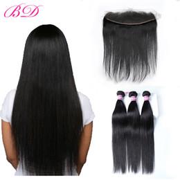 BD Brésiliens Extensions de Cheveux Humains Indiens Péruviens Malaisiens Vierge de Cheveux Humains 3 Faisceaux Avec Fermeture Frontale Libre Partie 13 * 4.5 ? partir de fabricateur