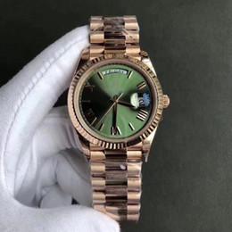 2018 Nuevo AAA de Lujo de Lujo Correa de Acero Inoxidable de Los Hombres Movimiento Automático Wristband Sunday Calendar Deluxe Caja de Regalo Reloj desde fabricantes