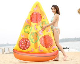 Wholesale Pines Toys - Inflatable Floats Tubes pine Floating Row Pizza PVC inflatable mattress Semicircular Watermelon swimming float bed Chairs water beach toy