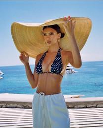 Modelos de chapéu de praia on-line-Modelo verão fotografado axi01807 desfile de moda passarela 35 cm vento brim lazer praia senhora cap mulheres férias chapéu de sol