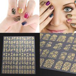 2019 цветок серебряный лист 108Pcs/Sheet 3D DIY Nail Stickers Golden Silver Pink Flower Design Nail Art Stickers Decal Manicure Tips Design Decal скидка цветок серебряный лист