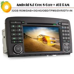 2019 mercedes radio navigation Octa Core Android 8.0 DAB + Navegación GPS del coche para Mercedes Clase R W251 WiFi 4G Radio Autoradio RDS BT DVD USB SD estéreo rebajas mercedes radio navigation