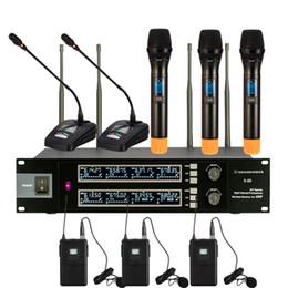 konferenzen mikrofon Rabatt Neueste Outdoor-Bühne zeigen Familie KTV singen UHF Wireless-Mikrofon-System mit Handheld-Konferenz und Körper Megaphon verpackt