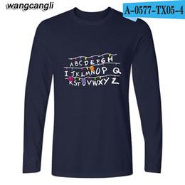 9e5eb93112ee Wholesale-2017 Funny Stranger things Long T-shirt Women Men Hip Hop T Shirts  stranger things Long Sleeve T Shirt Men Slim Fit TEE Shirts