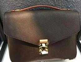 famosas marcas de equipaje Rebajas Envío libre 2018 bolsos de hombro de las mujeres del cuero genuino de la alta calidad pochette Metis bolsas crossbody bolsas de mensajero bagM40780.
