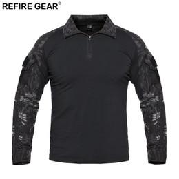 Refire Gear Autunno Outdoor T-shirt da uomo manica lunga Camouflage campeggio Camicia da campeggio Caccia Tattico Camicia da maglia ciclista rosa nera fornitori