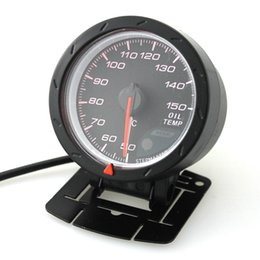 Wholesale Oil Gauges - 60mm 12V Car LED Oil Temp Temperature Gauge Vehicle Meter 4- 6- 8- Cylinder Engines 50 to 150 Celsius With Sensor