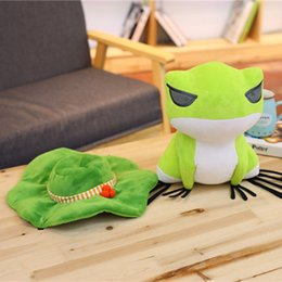 Wholesale Frog Decorations - New Travel Frog Doll Rag Toys Games Frog Anime Dolls Soft Travel Frog Plush Pillow Home Decoration Toy Cushions
